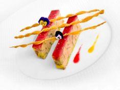 Fondant of Rougie' duck foie gras with vine peaches