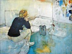 Seated nude in the studio, 1983. William Boissevain