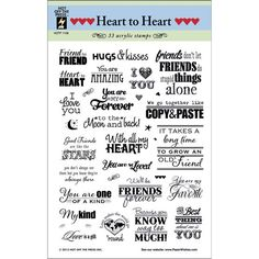 Hot Off The Press Acrylic Stamps Heart To Heart Greetings, , hi-res