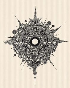simanion: The Balance | 2011 #illustration #art #design #ink #drawing #blackink #tattoo #blackandwhite #detail #ornaments #abstract #mandala #steampunk #instaart #instaartist #artist #simanion