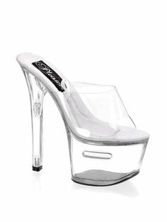 AwesomeNice Sexy High Heel Fantasy Dancer Tipjar Platform Shoe - 10