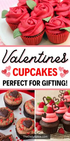 Valentine's day treats or desserts are a fun and cute way to make your loved ones feel extra special on V-day. And one of the easiest desserts you can make is Valentine's day cupcakes! We love cupcakes because they're so versatile and you can decorate them to fit any occasion. And Valentine's day is no exception of course! Cream Filled Cupcakes, Chocolate Cupcakes Filled, Chocolate Raspberry Cupcakes, Caramel Cupcakes, Dark Chocolate Cakes, Valentine Day Cupcakes, Valentine Desserts, Valentine Chocolate, Valentines Food