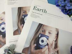 ICA会報誌EarthVol.18 SPRING EDITION Healing Clay, Polaroid Film, Wellness, Spring