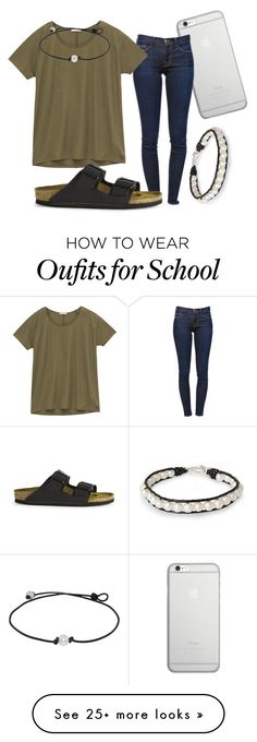 """School day 2"" by kennedy-amber on Polyvore featuring Native Union, Frame Denim, Lee, Birkenstock and NOVICA"