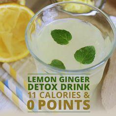 Kick start your new healthy body with this Lemon Ginger Detox Drink!  #lemongingerdetox #detoxdrinks