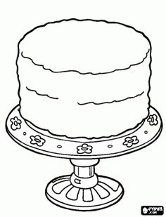 birthday cake to decorate celebration cake coloring page
