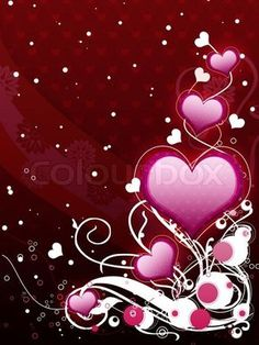 Picture of Illustration of pink hearts with flourish, vanetine background. stock photo, images and stock photography. Heart Wallpaper, Butterfly Wallpaper, Girl Wallpaper, Iphone Wallpaper, Cool Backgrounds Wallpapers, Pretty Wallpapers, Birthday Fireworks, Love Heart Images, Hearts And Roses