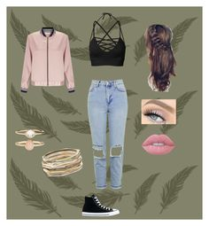 """""""😜"""" by asdfghjkl0024 ❤ liked on Polyvore featuring Miss Selfridge, Topshop, Converse, Lime Crime, Accessorize and Kendra Scott"""