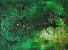 """Obraz na płótnie """"Gold on Green"""""""