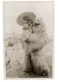 In the middle decades of 20th century Germany, there were — apparently — quite a few people running around in polar bear costumes