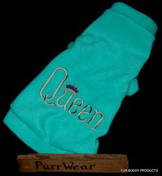 """Do you have a """"Queen"""" who rules the house?  Then she needs this fleece sweater."""