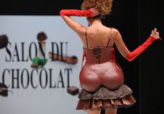 "All lovers of chocolate sharpen eyesight! Chocolate in all possible forms you can see in the fair ""Le Salon du Chocolat"" held in Paris on Oct. 28th - Nov.1th."