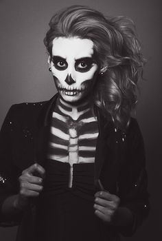 halloween makeup. Would it be cruel to answer the door for trick or treaters like this? lol