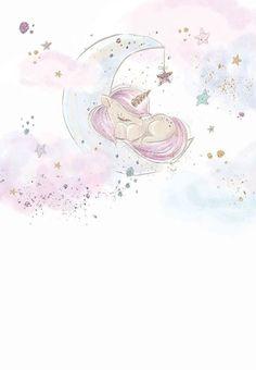 Baby Unicorn - Baby Shower Invitation Template (Free in 2019 Baby Shower Invitation Templates, Shower Invitations, Unicorn Invitations, Baby Invitations, Baby Shower Unicornio, Unicorn Wallpaper Cute, Unicornios Wallpaper, Unicorn Pictures, Baby Posters