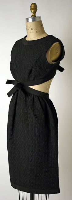 Cocktail ensemble by Yves Saint Laurent, 1967.  Silk and wool.  Metropolitan Museum of Art.  Gift of Jane Holzer.