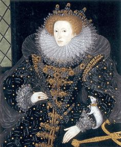 Elizabeth I Queen of England (1533-1603)   They say it's an ermine, but they're wild. Ferrets were pets/hunting animals of the nobility at the time, however.