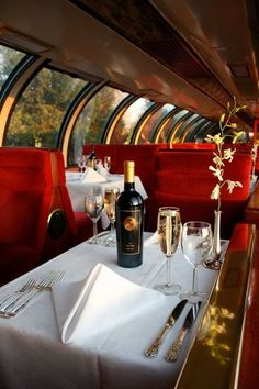 Dinner on the Train  - Explore the World with Travel Nerd Nici, one Country at a Time. http://TravelNerdNici.com