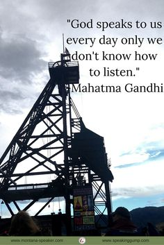 """""""God speaks to us every day only we don't know how to listen."""" - Mahatma Gandhi   #MDI"""