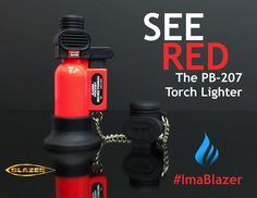 See Red with the PB-207 butane refillable Torch Lighter. The original Made in Japan PB-207 (Pocket Blazer) features a wind resistant 2500F flame.   The First and still the best. Since 1985. Available in 13 great looking colors, including fiery Red. Ask your local retailer for the Pocket Blazer today. ‪ #‎Butane‬ ‪#‎Torch‬ ‪#‎Cigar‬ ‪#‎Lighter #IPCPR #BlazerTorch #CigarLighter #Hookah #DIY #Camping #Hiking #SurvivalGear #ButaneTorch #CleanButane #Hiking  #CigarTorch