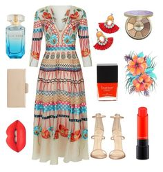 """""""Floral Dress"""" by banuozturk ❤ liked on Polyvore featuring Giuseppe Zanotti, Bea Valdes, Dune, Lime Crime, tarte, MAC Cosmetics, Butter London, TemperleyLondon and floraldress"""