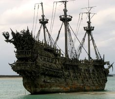 The legend of the Flying Dutchman concerns a ghost ship that can never make port, doomed to sail the oceans forever.It probably originates from 17th-century nautical folklore. The oldest extant version dates to the late 18th century. Sightings in the 19th and 20th centuries report the ship to be glowing with ghostly light. If hailed by another ship the crew of the Flying Dutchman will try to send messages to land, or to people long dead.Sight of this phantom ship is a portent of doom....