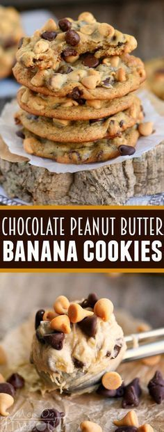 Got ripe bananas? These Easy Chocolate Peanut Butter Banana Cookies are WAY more fun than making banana bread and so delicious too! Give them a try and you may never make banana bread again :) eBay