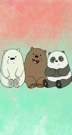 """We bear bears """"panda, grizzly, polar🐻 🐼 Cute Panda Wallpaper, Bear Wallpaper, Kawaii Wallpaper, We Bare Bears Wallpapers, Panda Wallpapers, Cute Cartoon Wallpapers, Cute Wallpaper Backgrounds, Wallpaper Iphone Cute, Galaxy Wallpaper"""