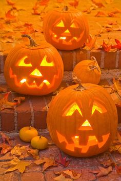 Classic Halloween pumpkins