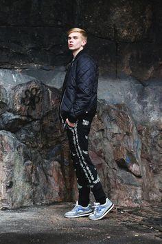 Mika Kailes in First Quilt jacket by JUNKYARD XX-XY. #junkyardxxxy