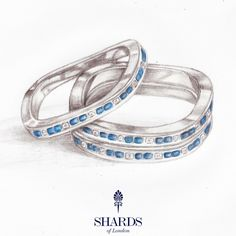 Our hand drawn designs, like this one, are transferred to CAD for mould making, production planning and casting before a Shards of London artisan #jewellery maker finishes each piece by hand; filing, stone setting, polishing, embellishing and finishing.    http://shardsoflondon.com/about #Jewelry