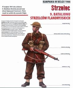 Polish infantry private in the low countries 1944 wearing British battle dress and armed with the Lee Enfield