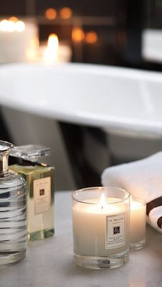 Bespoke gifts from Jo Malone > Jo Malone (love her blue agave & cocoa perfume) Bougie Candle, Candle Jars, Perfume, Relaxing Bath, Jo Malone, Home Spa, Spa Day, Spa Weekend, Bath Time