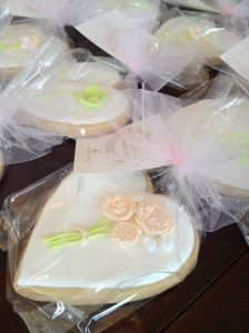 Shabby Chic style cookie bridal shower favors
