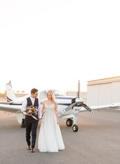 Blush Aviation Themed Wedding Inspiration - Inspired By This Our Wedding Day, Wedding Pics, Wedding Styles, Dream Wedding, Wedding Things, Wedding Photoshoot, Wedding Shoot, Wedding Bride, Airplane Photography