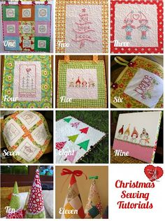 Eleven free Christmas sewing tutorials