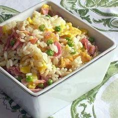 Ingrédients   300 g de riz (cuisson 20 min) 100 g de carottes  2  échalotes 20 g d'huile  200 g de petits pois surgelés  200 g de champi...