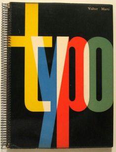 1957 Modern SWISS TYPOGRAPHY DESIGN Walter MARTI Rare: