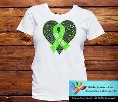 Non-Hodgkin's Lymphoma Believe Heart Ribbon Shirts