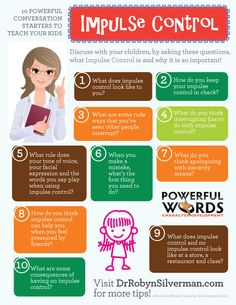 Child psychology parenting teens, parenting advice, impulse control, kids b Parenting Teens, Parenting Advice, Step Parenting, Coping Skills, Life Skills, Teaching Kids, Kids Learning, Counseling Activities, Counseling Worksheets