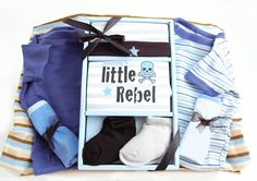 Little Rebel Baby Boy Basket