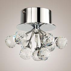 Modern LED K9 Crystal  Chandelier  Floral Ceiling Light Chrome Lamp Flush Mount #unbrandedgeneric #ModernComtemporary