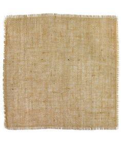 "16"" x 16"" Fringed Jute Squares - 12 Pack - $11.6 | onlinefabricstore.net"