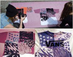 Vans customise t-shirts et chaussures avec l'Inkodye | SearchSwear