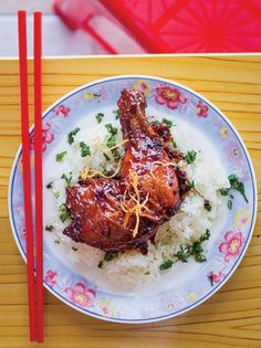 Caramelized Ginger Chicken with Sticky Rice // Fs Best Chicken Recipes: fandw.me/ndV Wine Recipes, Asian Recipes, Great Recipes, Cooking Recipes, Favorite Recipes, Vietnamese Recipes, Vietnamese Cuisine, Asian Foods, Sticky Rice Recipes