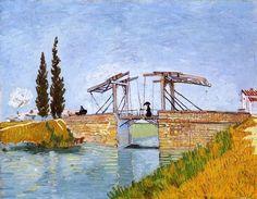 The Langlois Bridge, 1888, Vincent van Gogh Size: 49.5x64 cm Medium: oil on canvas