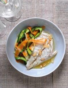 Dorade et tagliatelles de légumes