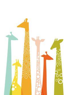 cute giraffe print
