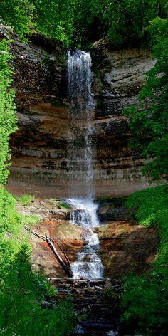 Munising Falls in Munising, Michigan.