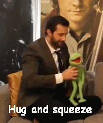 Richard hugging Kermit PLEASE HELP ME ITS TOO CUTE!!!