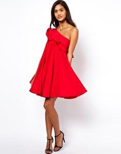 Image 4 ofASOS One Shoulder Ruffle Swing Dress